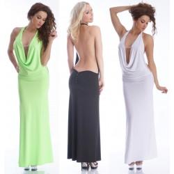 Neckholder Wasserfallkleid  Abendkleid Kleid mit Strass