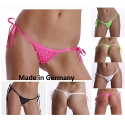 Poly Mini String Tanga mit Strass