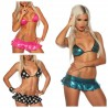 knappes zweiteiliges Gogo Set Top + Rock