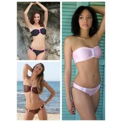 Bandeau Bikini mit Scrunch Slip