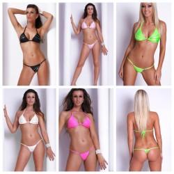 Neckholder Mini String Bikini NEON mit Strass