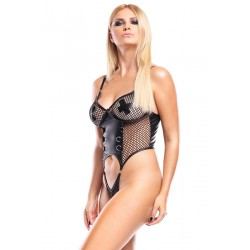 Ouvert Body aus dehnbarem Wetlook-Material